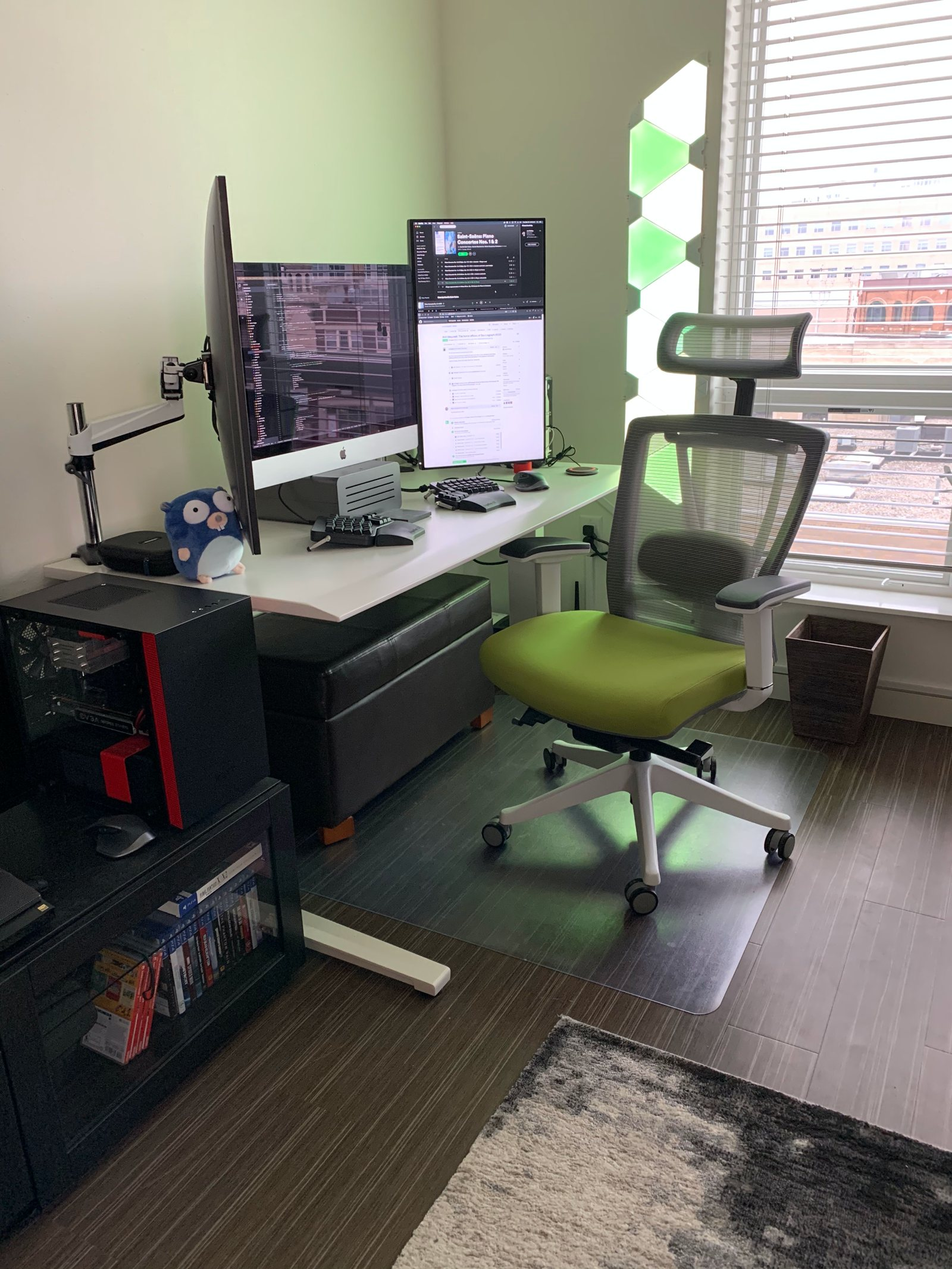 Home office setup of Eric Fritz, software engineer