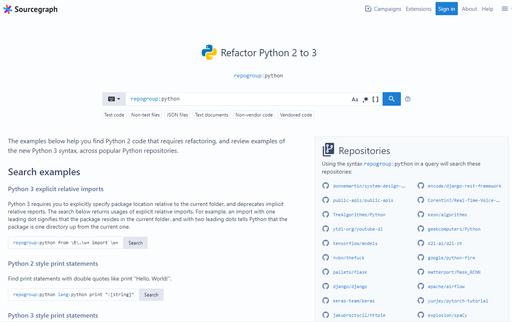 Python search page