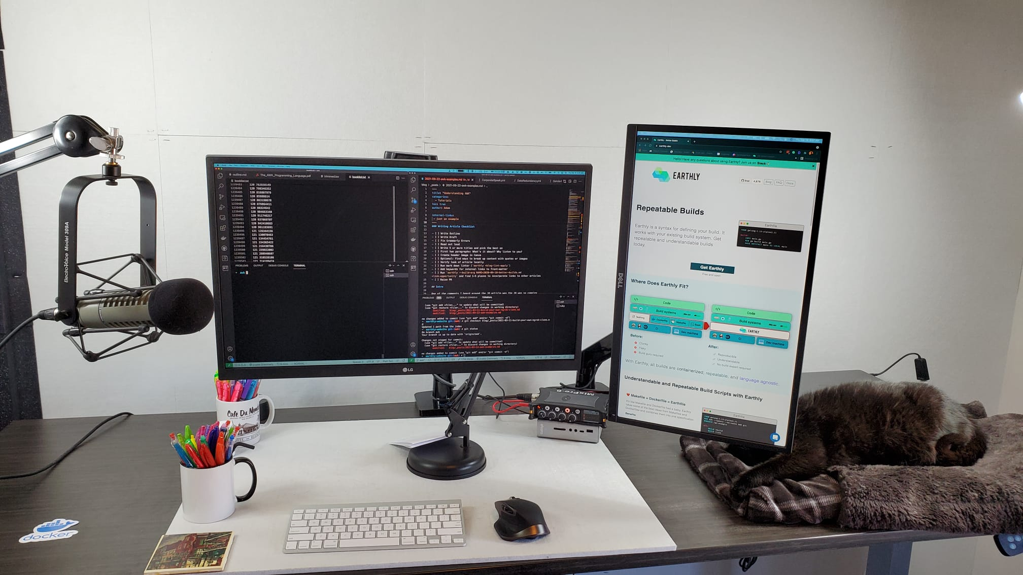 Adam's current desk setup