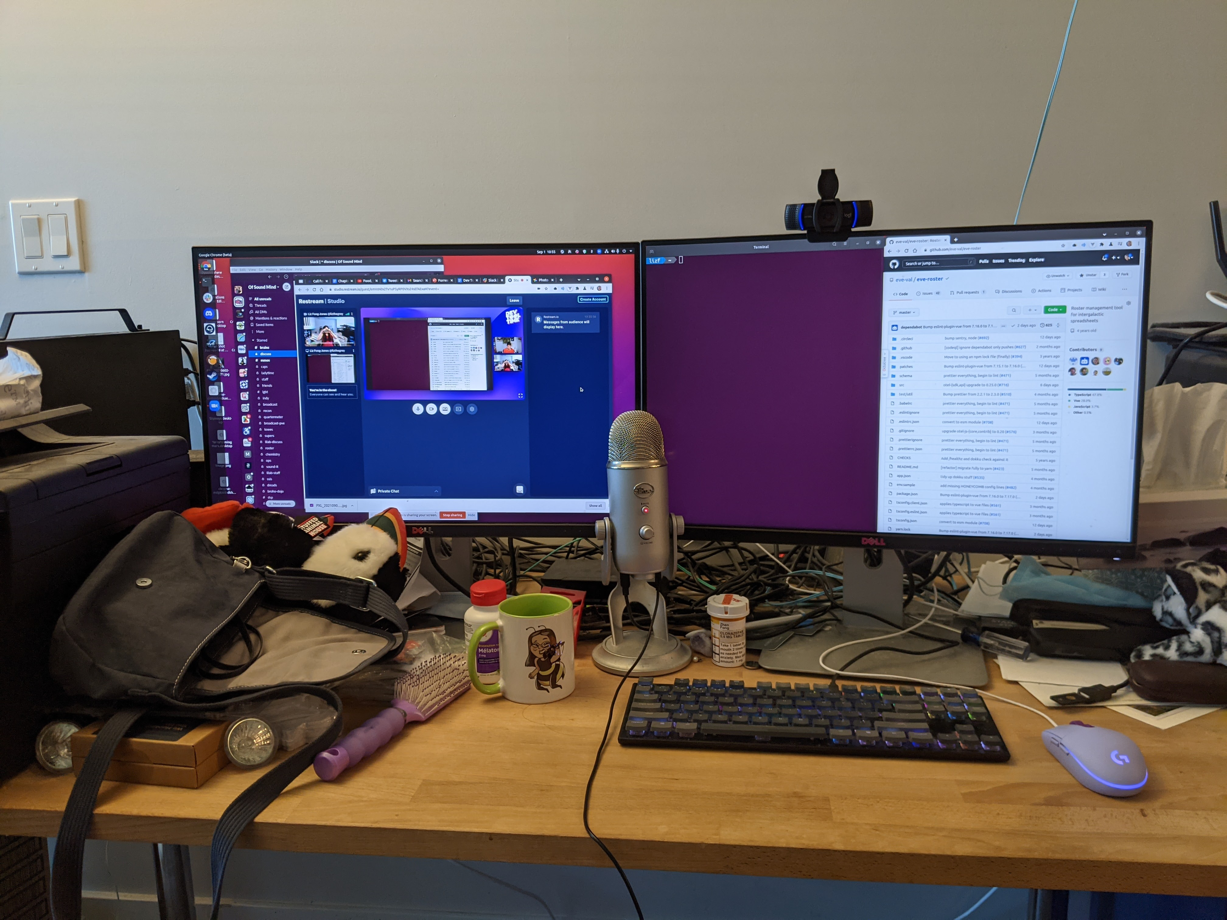 Liz's main work desk