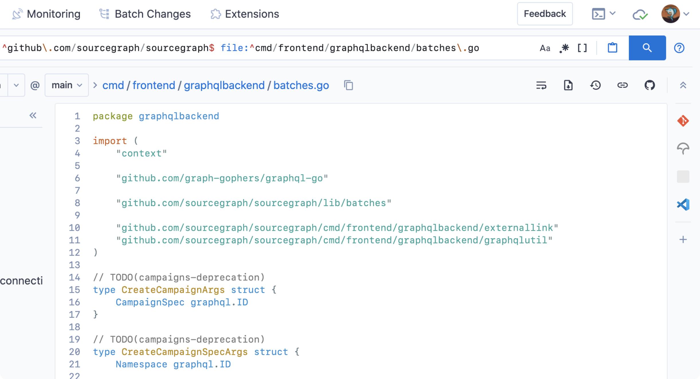 focus on code screenshot
