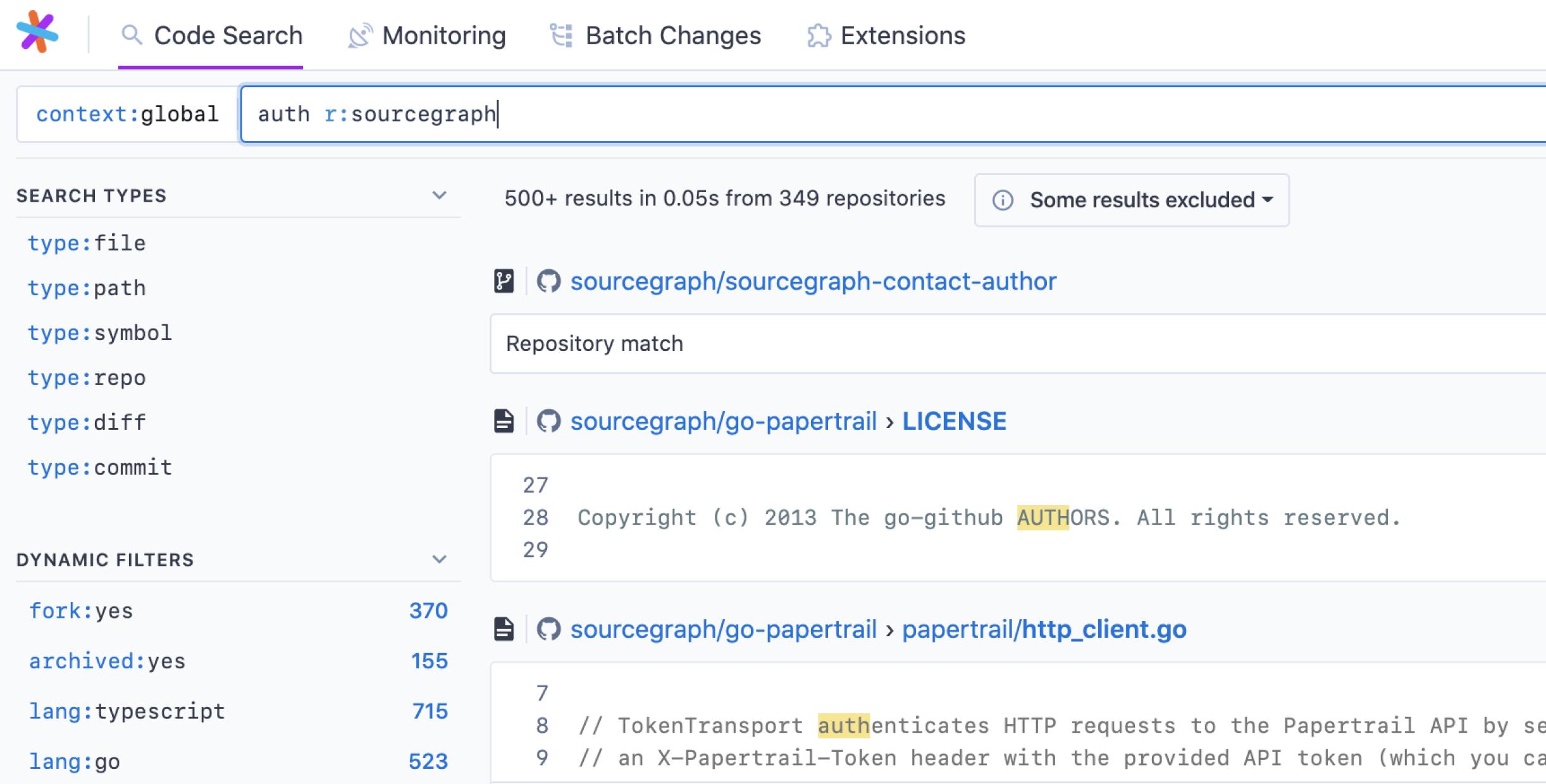 refined search results design screenshot